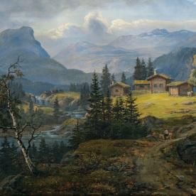 Johan_Christian_Dahl_-_Visning_av_Øylo_Farm,_Valdres