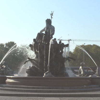 The Neptune Fountain of Berlin.